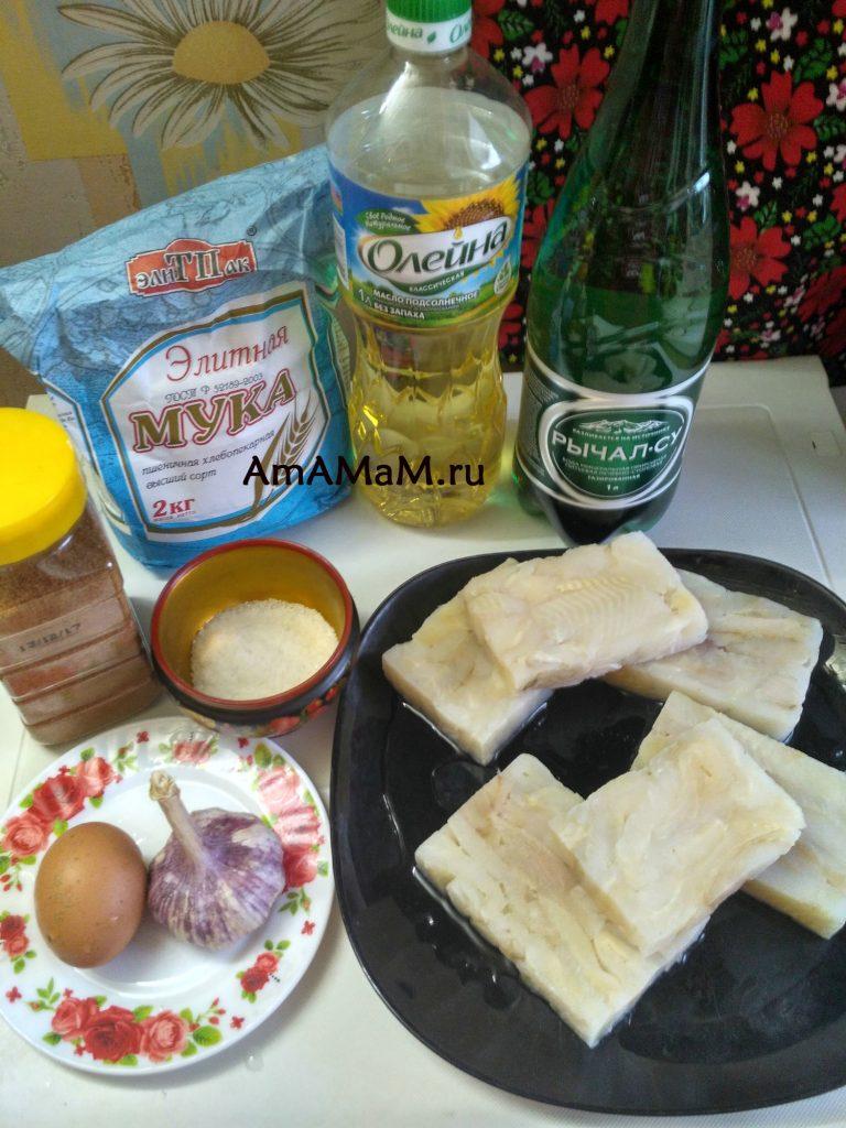 Рецепт камбалы (филе) в кляре - ингредиенты