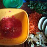 Овощи для рагу с грудинкой