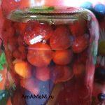 Сливовый компот с виноградом (на зиму)