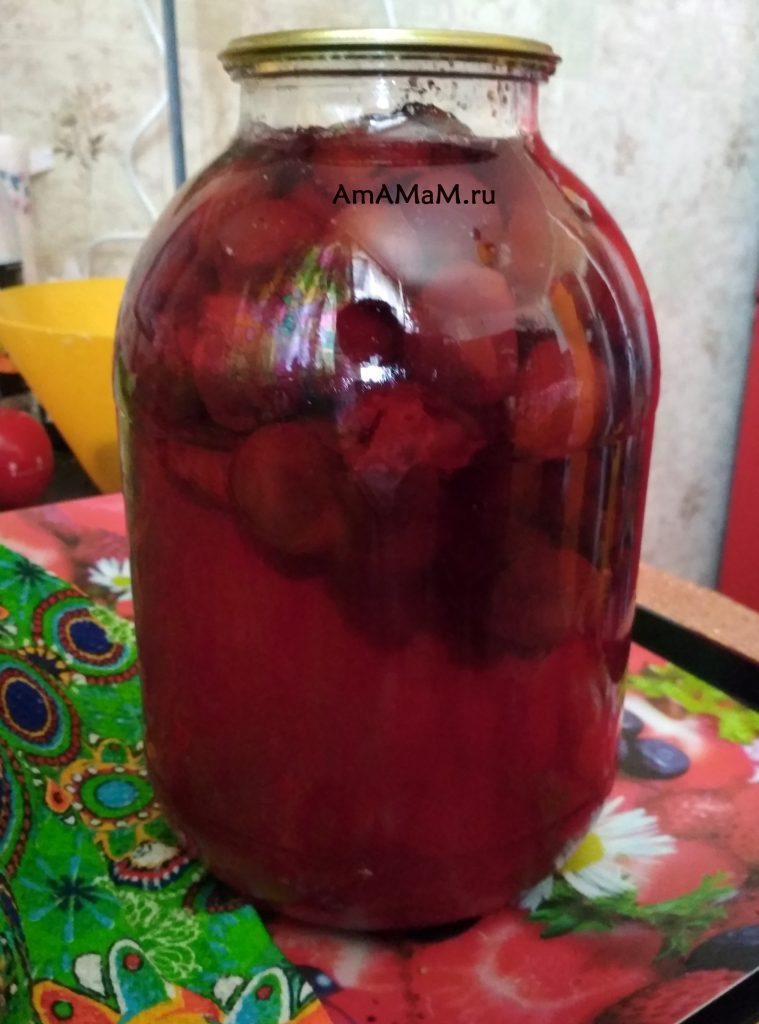 Сливово-виноградный компот