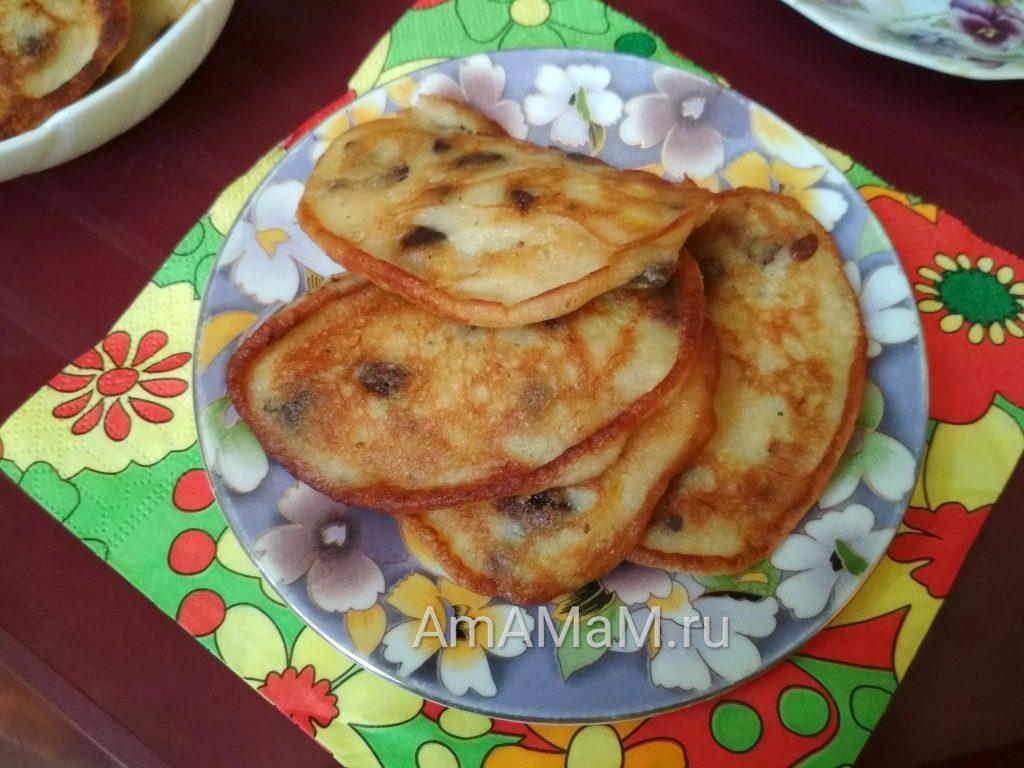 Рецепт приготовления оладьев с бананами