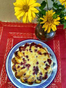 Пирог из ягод на кефире