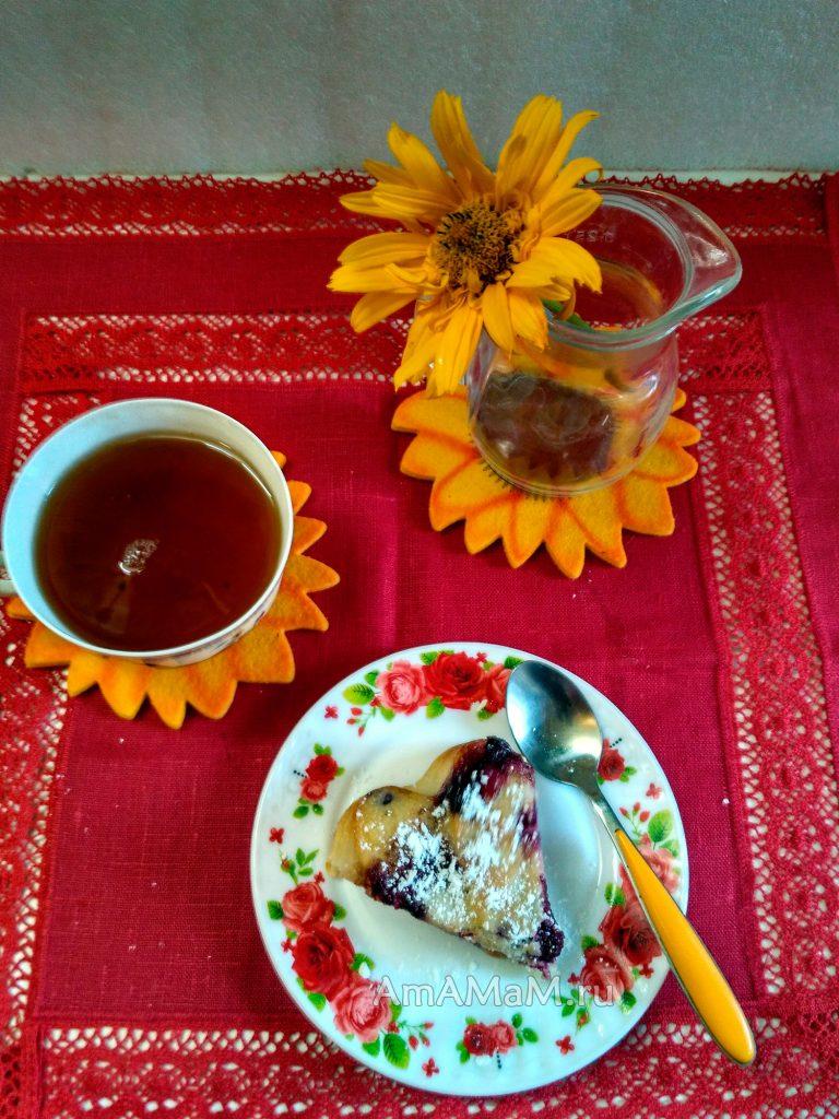 Вкусный домашний пирог с ягодами