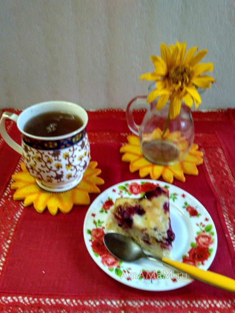 Пирог к чаю из замороженных ягод