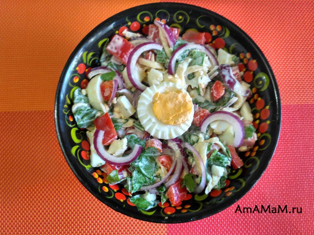 Рецетп вкусного салата с рукоклой
