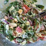 Салат из рукколы с майонезом
