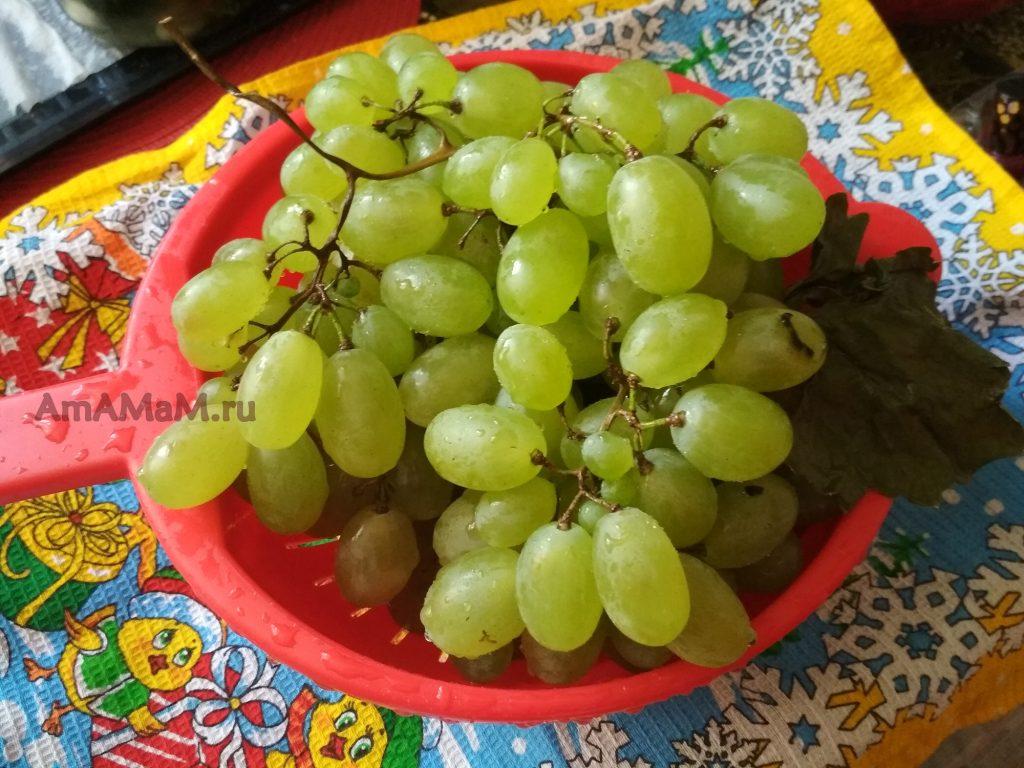 Виноград в дуршлаге