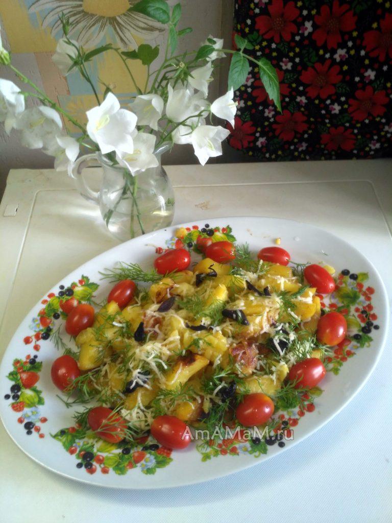 Рецепт картофеля в пакете (с чесночком)