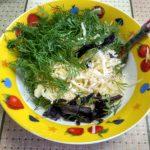 Мисочка с укропом, базиликом и тертым сыром