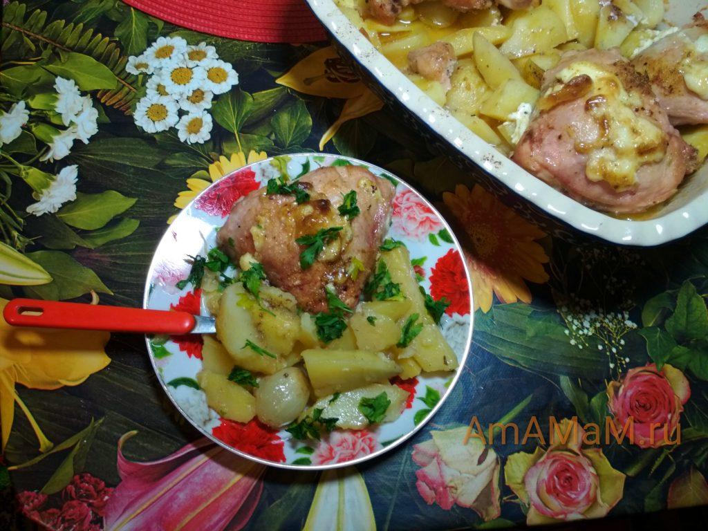Рецепт обеда или ужина из картофеля и курицы