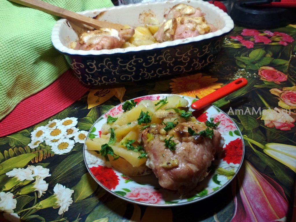 Рецепт картошки с курицей в духовке - просто и вкусно!
