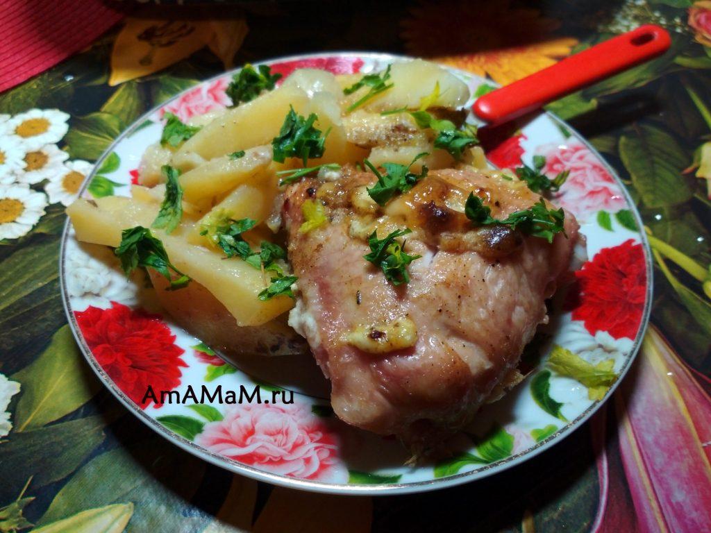 Рецепт картофеля и курицы в форме для запекания