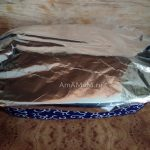 Форма для запекания (керамическая) - ззакрыта фольгой