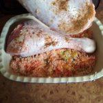 Индейка на подушке из овощей и риса