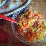 Рис с овощами для гарнира к индейке