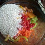 Рис с овощами для гарнира к голени индейки