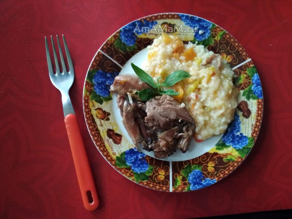 Рис с филе индейки