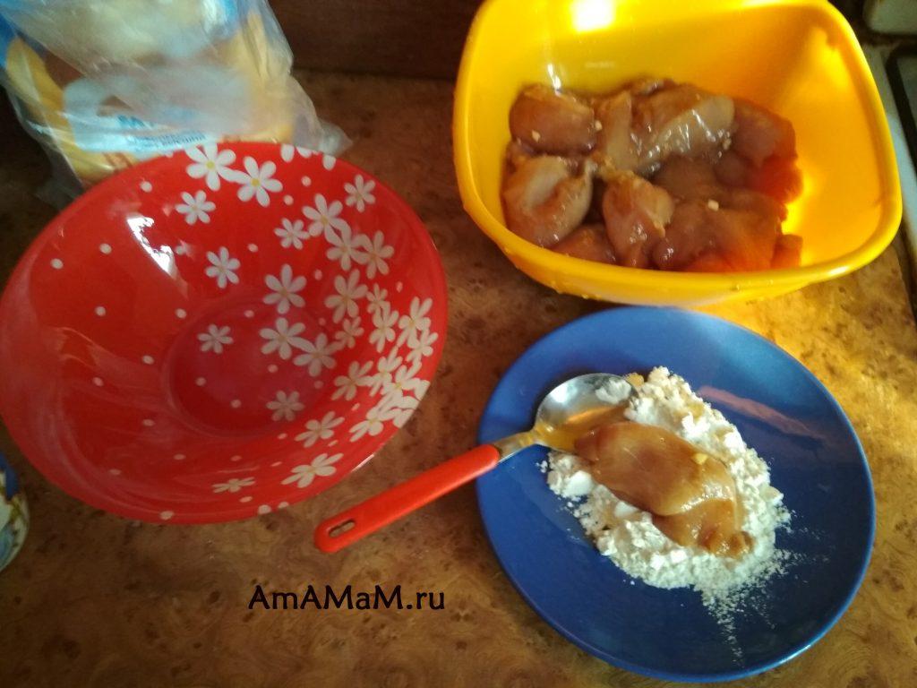 Приготовление жареной куриной грудки (сочной)