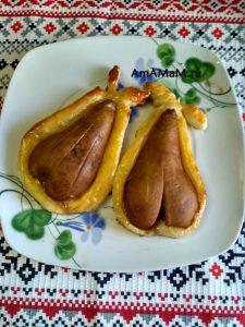 Рецепт пирожных из груш с конфетами