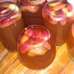 Пряный яблочный компот с яблоками или на яблочных шкурках (кожуре)