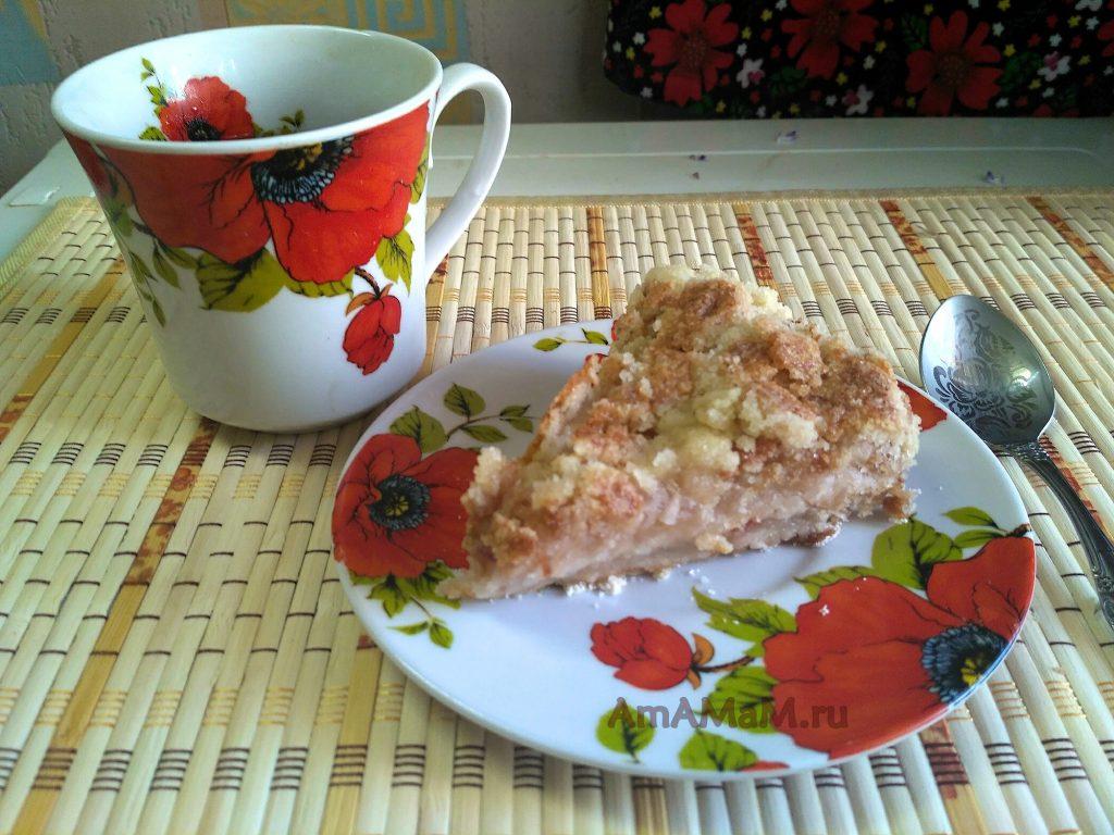 Пирог из яблок насыпной