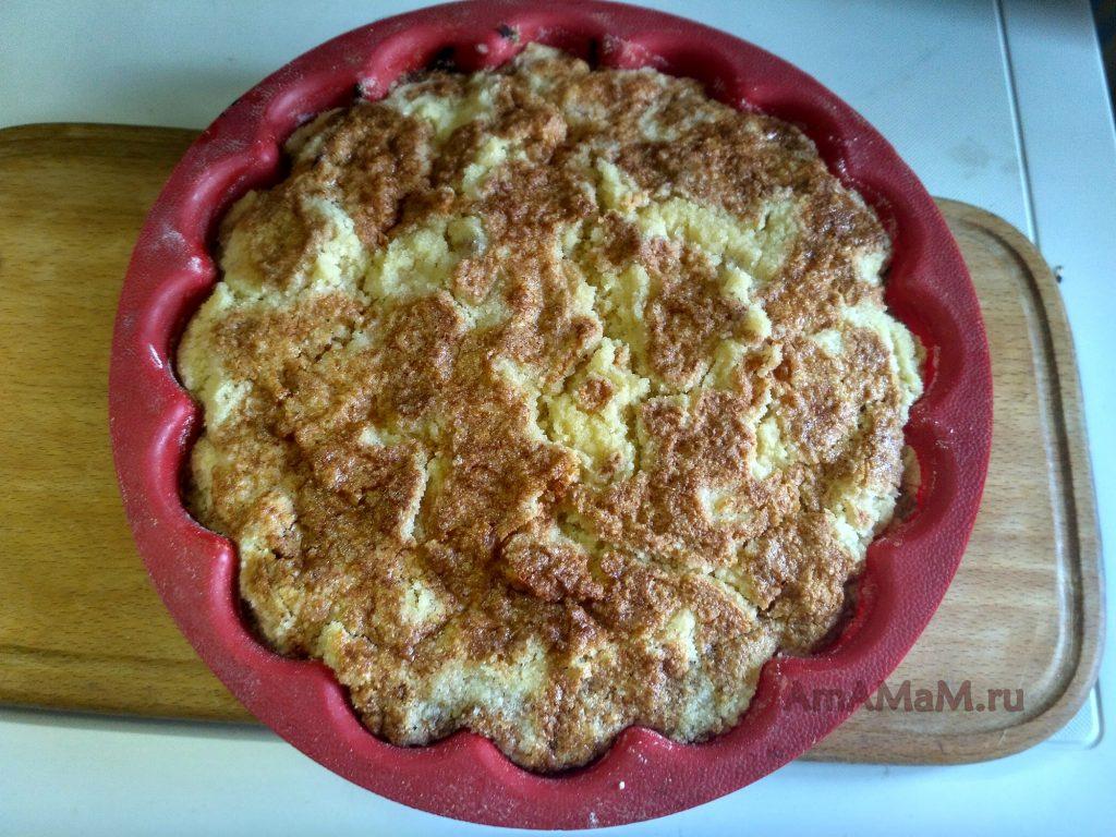 Пирог насыпной с яблоками - рецепт и фото