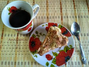 Яблочный пирог без яиц насыпной