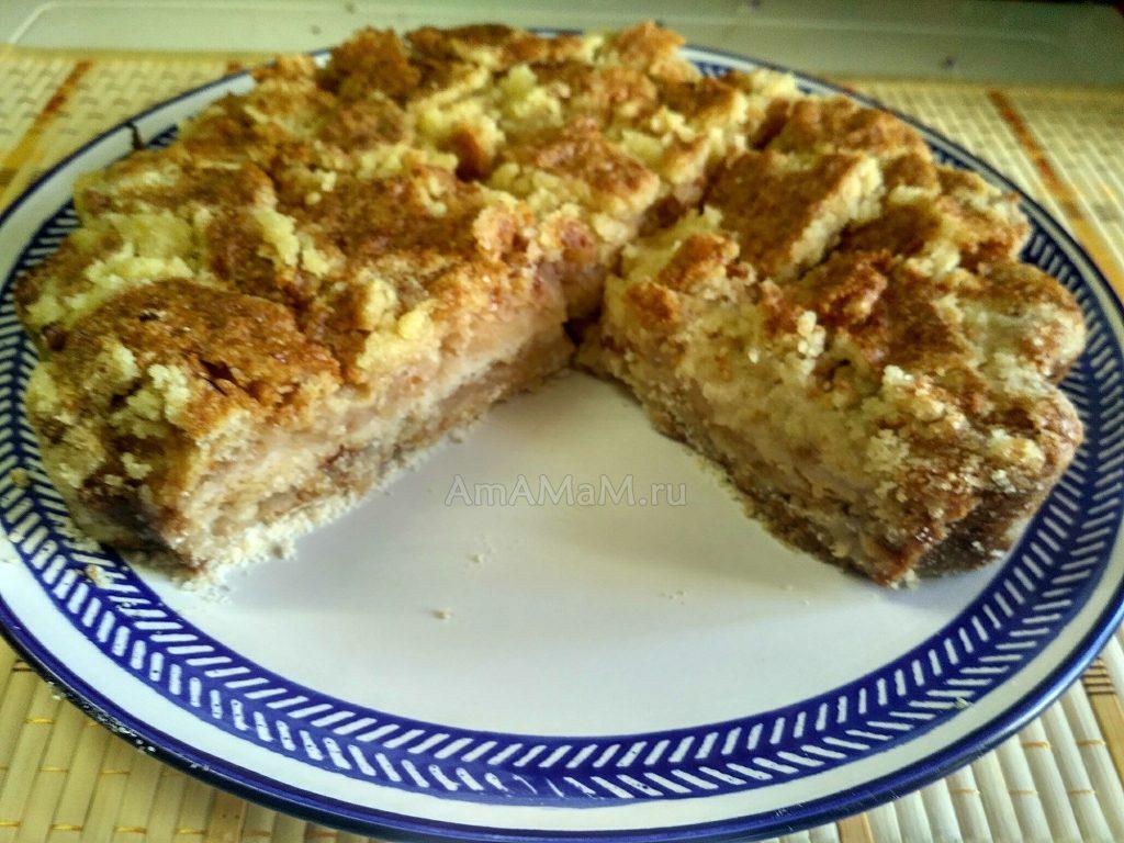 Пирог песочный яблочный (насыпной)