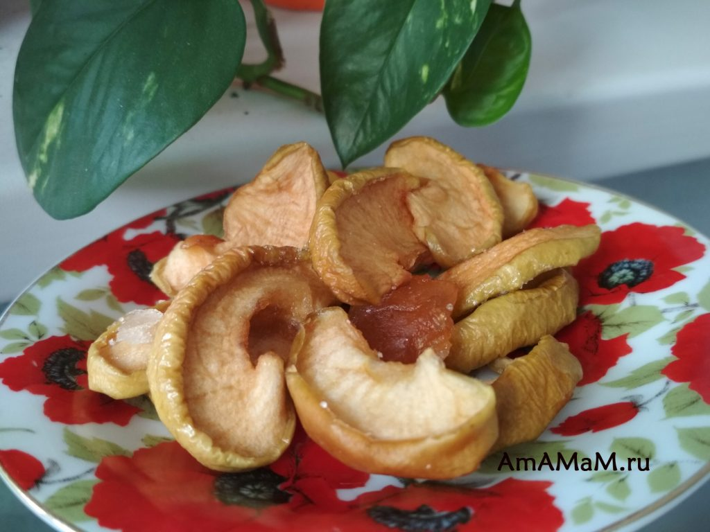 Самодельные вяленые яблоки