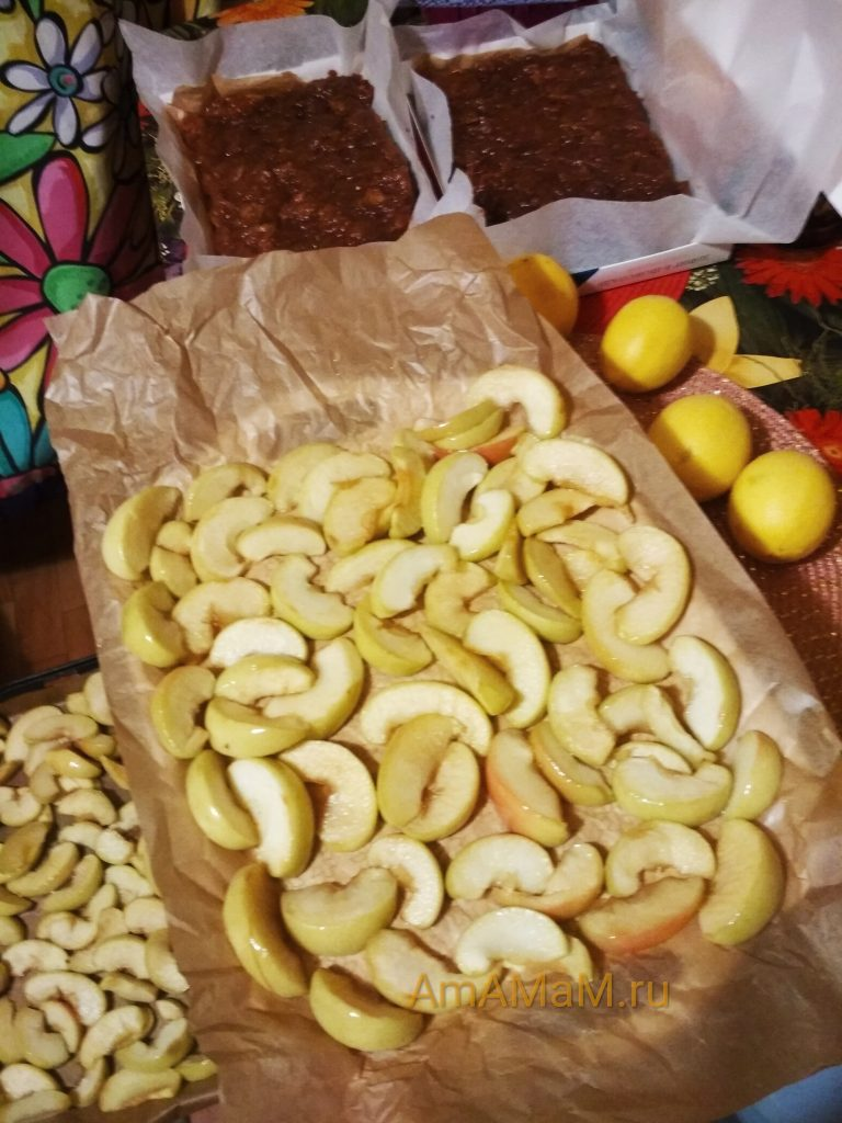 Яблоки в сахаре - процесс вяления