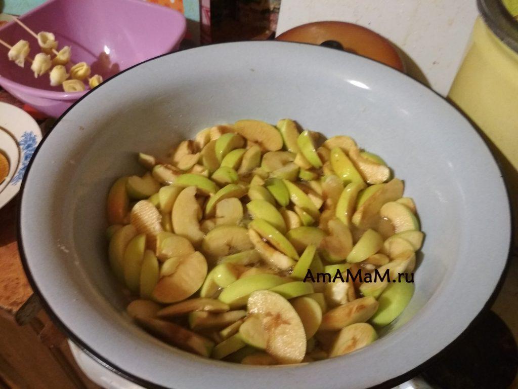 Заготовка сушеных-вяленых яблок - рецепт цукатов