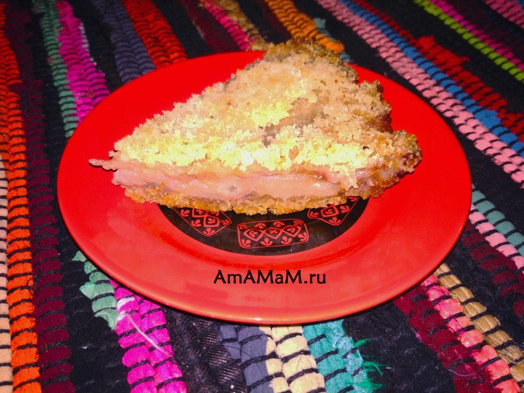 Пирог насыпной яблочно-банановый