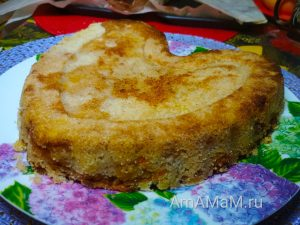 Яблоки и бананы - рецепт потного пирога без яиц