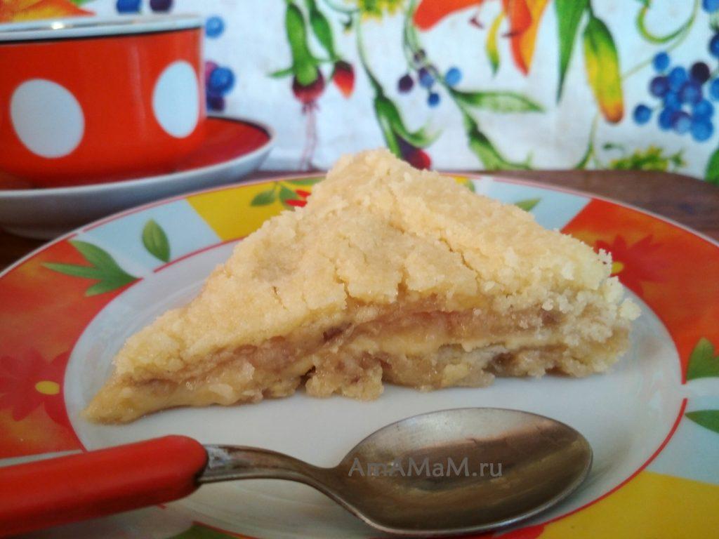 Пирог на кукурущной муке с крахмалом - фруктовый