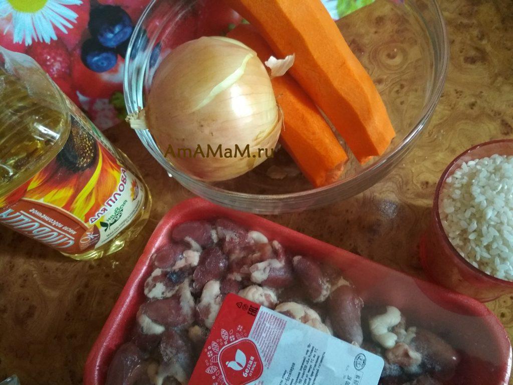 Ингредиенты рецепта тушеного (жареного) риса