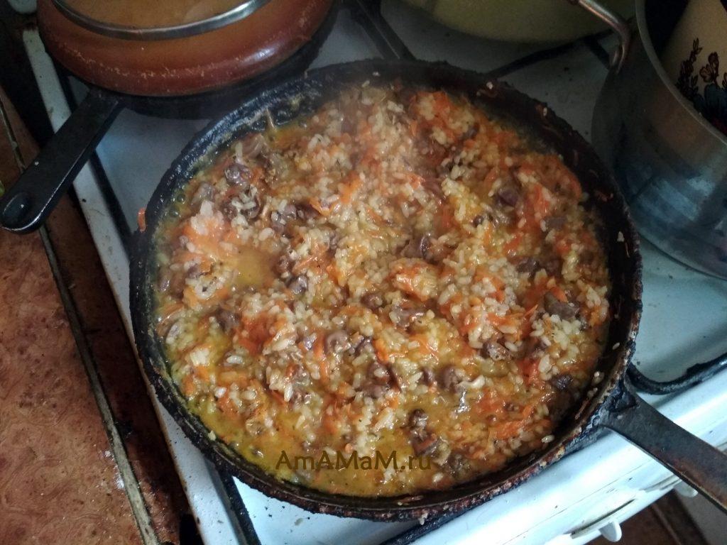 Приготовление блюд из сердечек с рисом - простой рецепт