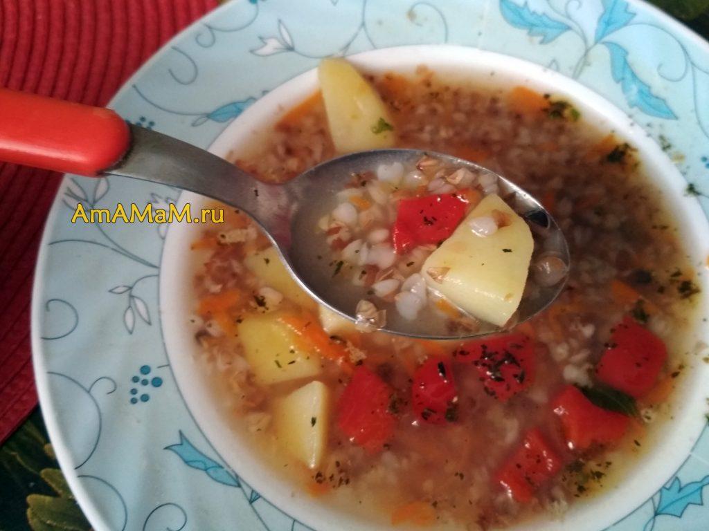 Куриный суп с гречневой крупой и картофелем