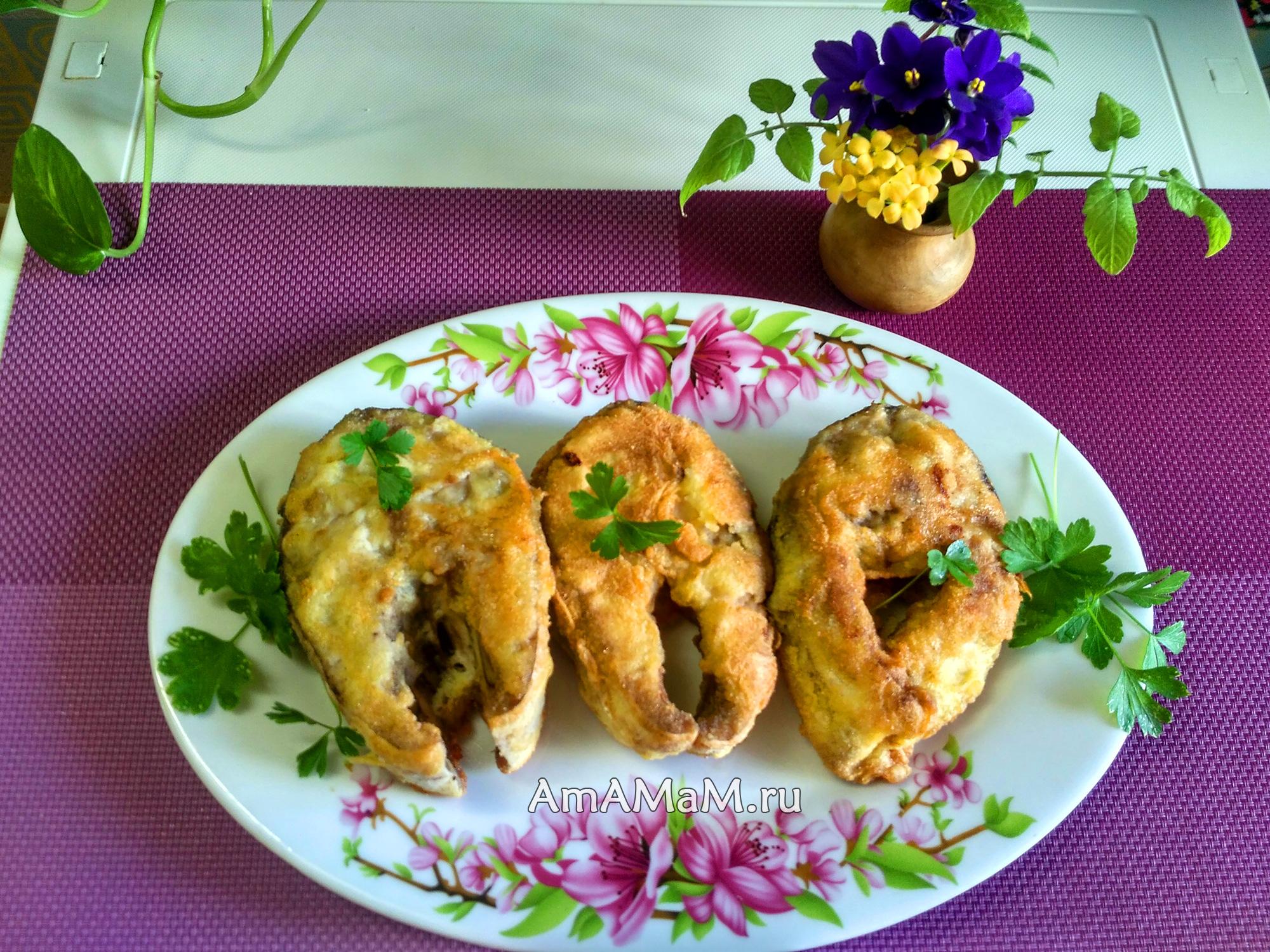 Рецепт жареной лакедры в кукурузной муке