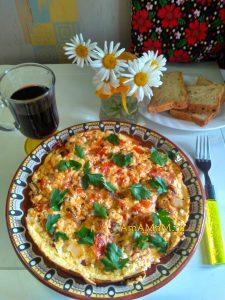 Болгарская кухня - омлет Миш-Маш