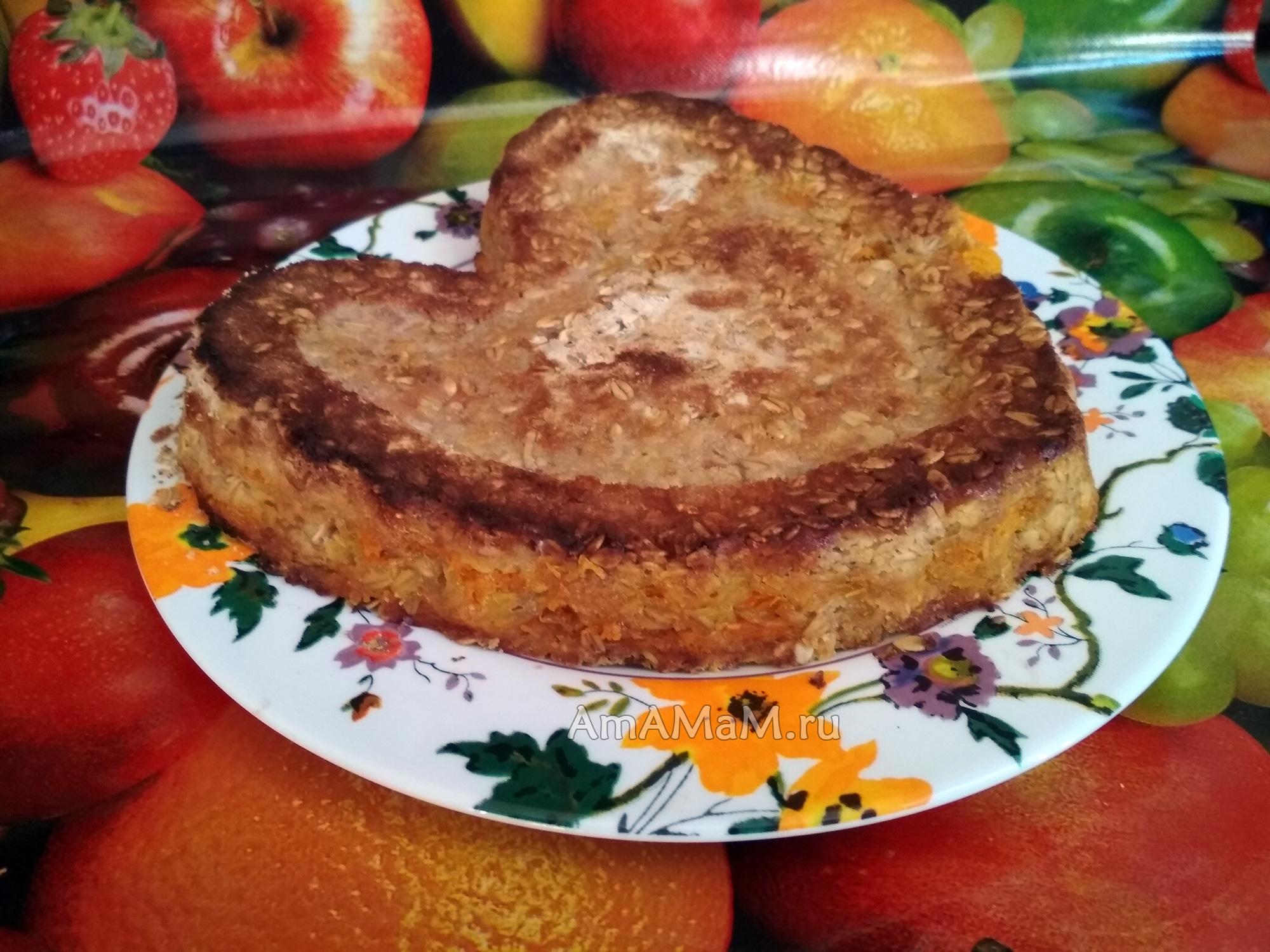 Рецепт пирога с фруктовой начинкой из овсяных хлопьев