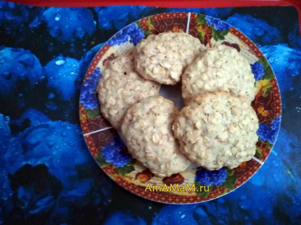 Простой рецепт овсяного печенья и фото готового лакомства