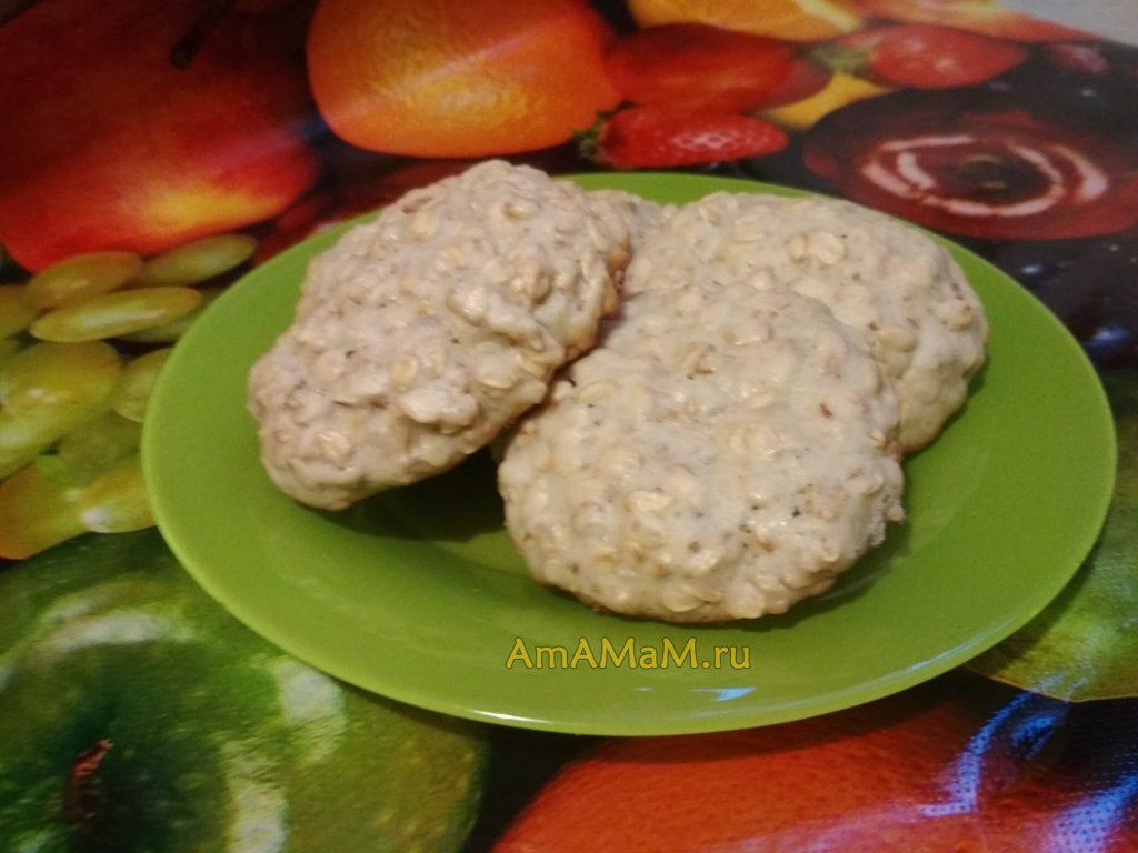 Рецепт овсяного печенья песочного
