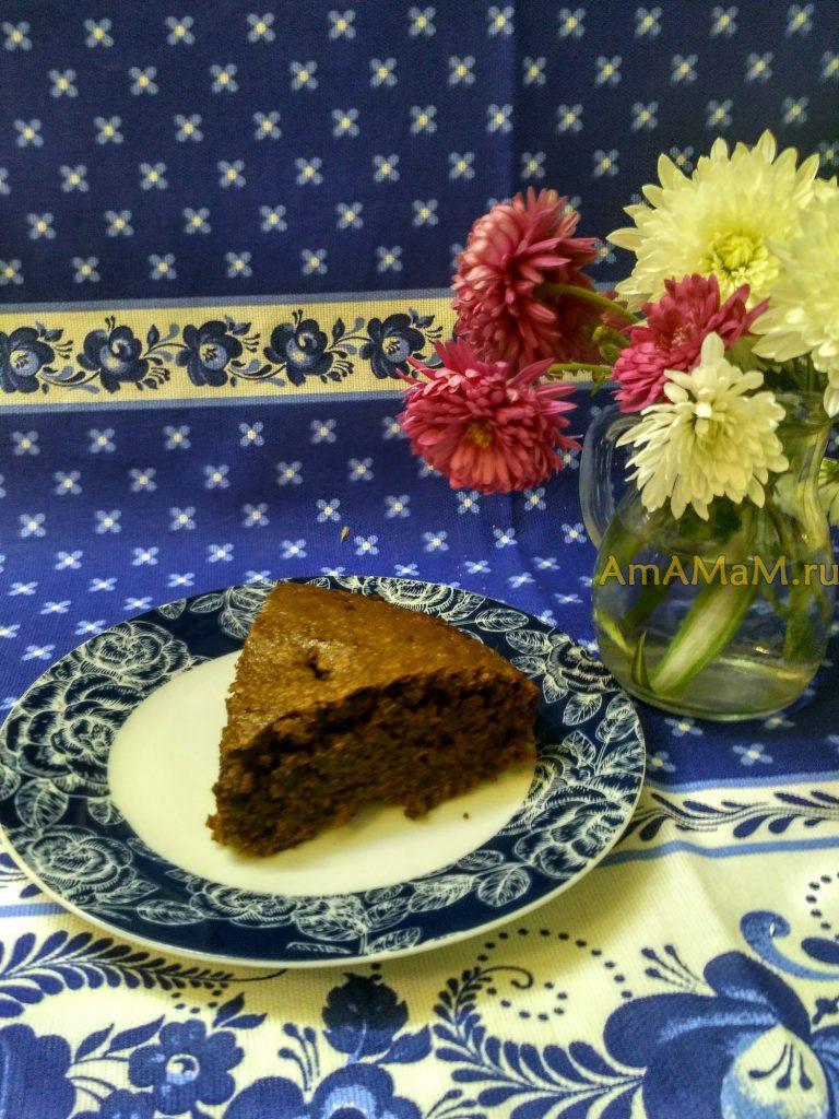 Пирог шоколадный на молоке