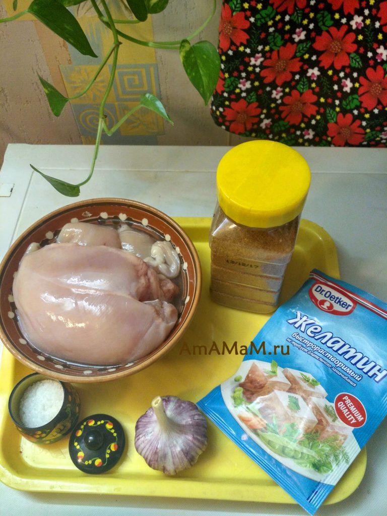 Ингредиенты рецепта ветчины в железной банке
