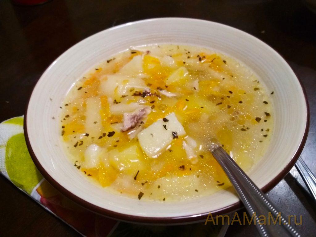 Рисовый суп с яблоком