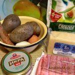 Крабовые палочки и икра мойвы - состав рецепта