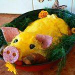 Свинья реалистичная - пирог-запеканка