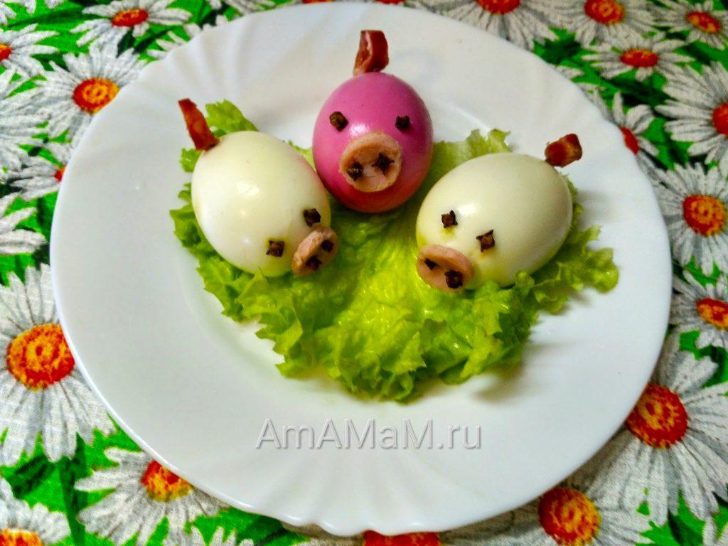 Свинки из яиц