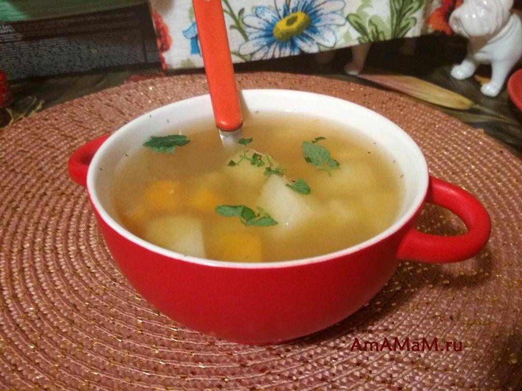 Рыбный суп из голов горбуши