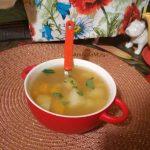 Суп рыбный из обрезков горбуши с картошкой и тыквой